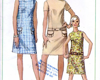 Simplicity 7531 Vintage 60s Sewing Pattern for Misses' Dress - Size 10