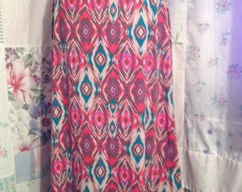 EXTRA LARGE, Skirt Comfy Bohemian Hippie Boho Long Stretch Yoga Waist Skirt