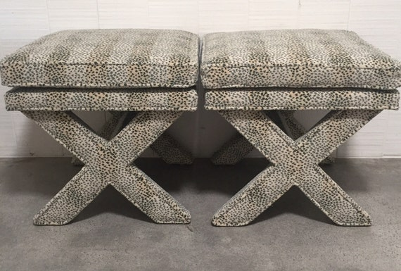 X Benches With Pillow-Top & Welt on LEGS- Design Your Own
