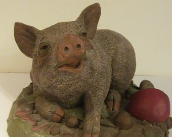 Rosanne the Pig - Tim Wolfe Sculpture  No. 9023 - Cairn Studio Retired Figure