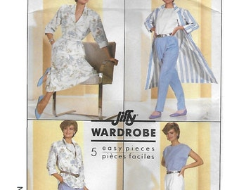 Simplicity 7881 Women's 80s Wardrobe Sewing Pattern Skirt, Pants, Top, Shirt, and Duster Coat Size 14 Bust 36