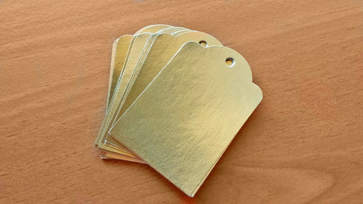 24 metallic gold labeling tags paper gift tags price for Price tags for craft shows