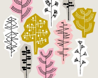 Grasses Pink, open edition giclee print