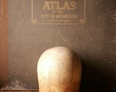 """Vintage Wood Hat Block - 24"""" inch Hat Form from Midwest H.B. & D. Co. - Wig Form - Millinery Tool"""