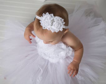 Baby girl Christening headband - First communion headband - White baptism Headband -  White cross headband - White First Communion Headband