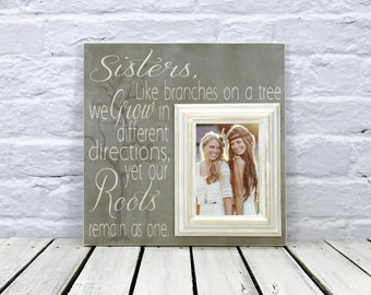 Sister Wedding Gift, Sister Gift, Maid of Honor gift, Bridesmaid Gift, Personalize Picture Frame, Best Friend Gift, Bridal Shower Gift
