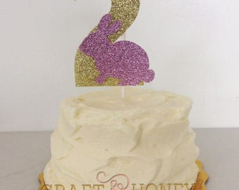 Bunny Birthday Cake Topper // Spring // Some Bunny