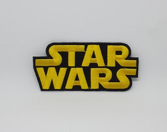 "Star Wars Patch Movie Patches Logo Patch Iron On Patch size 3 1/2"" x 2 3/4"""