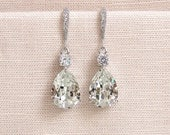 Crystal Bridal earrings  Wedding jewelry Swarovski Crystal Wedding earrings Bridal jewelry, Crystal Drop Bridal Earrings