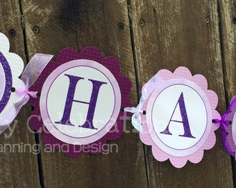 Ballerina Birthday Banner, Personalized Banner, Ballerina Party, Baby Shower, Ballerina Happy Birthday Banner, Photo Prop, Ballerina Banner