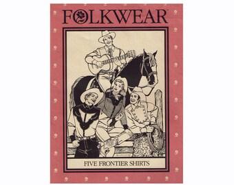 Frontier Western Shirts Cowboy Shirts Men and Women Uncut Sewing Pattern Folkwear 212 Five Frontier Shirts