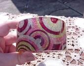 Psychedelic Glitter Bangle Vintage Lucite Bangle Bracelet