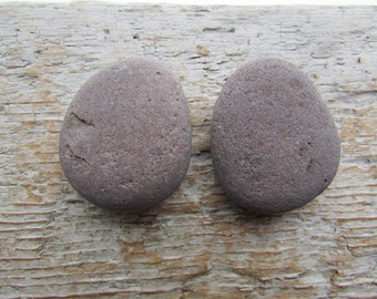 Natural Stone Cabinet Knobs PLUM BROWN Round Natural Beach Stone Cabinet Knobs