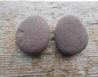 Natural Stone Cabinet Knobs PLUM BROWN Round Natural Beach Stone Cabinet Knobs