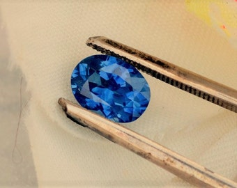 RESERVED Blue Sapphire Oval Shape Wholesale Precision Cut Gemstone 1.93 Carat