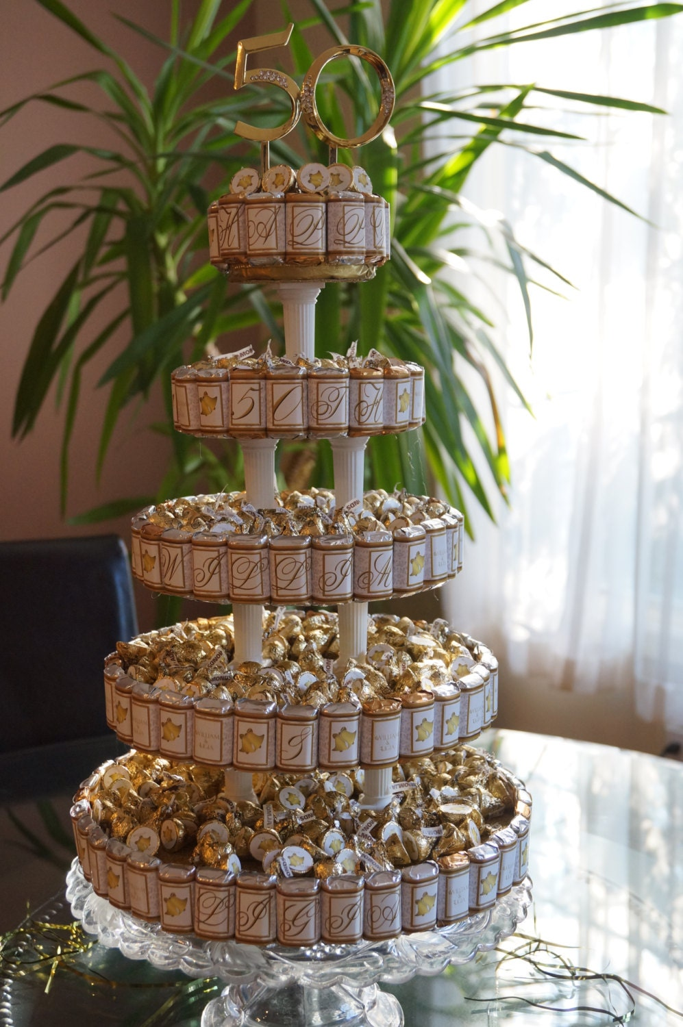 Anniversary Centerpiece Candy Cake 50th Wedding Party