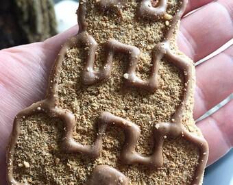 Jumbo Sandcastle Dog Treat - 2 castle shaped treats per pack -  Beach - Summer - Yogurt Icing - Carob icing - Peanut Butter - Sand Sun Fun