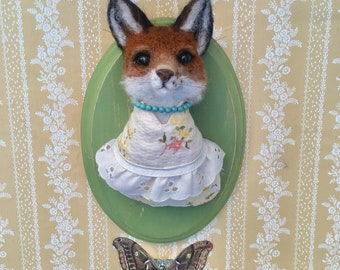 Lady Fox- Needle Felted Taxidermy