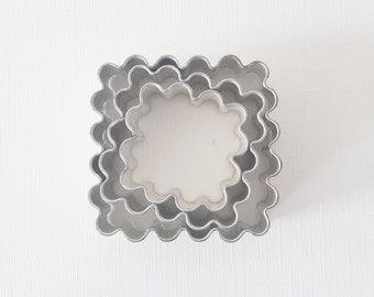 3 Vintage Metal Cookie Cutters