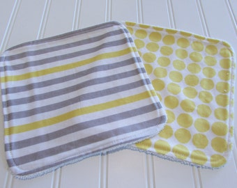 SWEET NATURALS/Organic Line/Washcloths/Set of Two/Haven/Organic Cotton Front/Organic Cotton Terry Back
