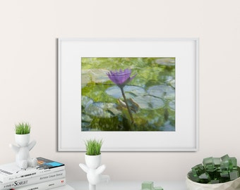 Pink Water Lily Fine Art Print | Blank Greeting Card | Zen Photo Print | Gift for Yogi | Yoga gift | Gift for Mom