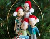 Handmade Keepsake Portrait Christmas Ornament