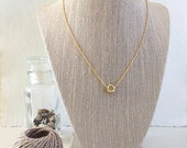 Gold Nugget Necklace, Gold Necklace, Short Necklace, Layering Necklace, Simple, Minimalist, Delicate Cable Chain, Holiday Gift