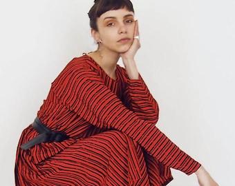 80s Vintage Geometric Printed Dress