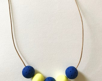 Minimalist Necklace Modern Clay Beads