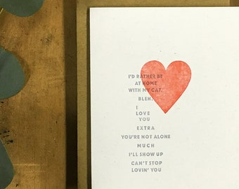 Funny Valentines Card - Valentines Day Love Poem Card - Love Card - Anniversary Card - Funny Love Card - Card for Friend