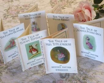 Vintage Beatrix Potter Storybook DUST JACKETS ONLY for Little Green Book