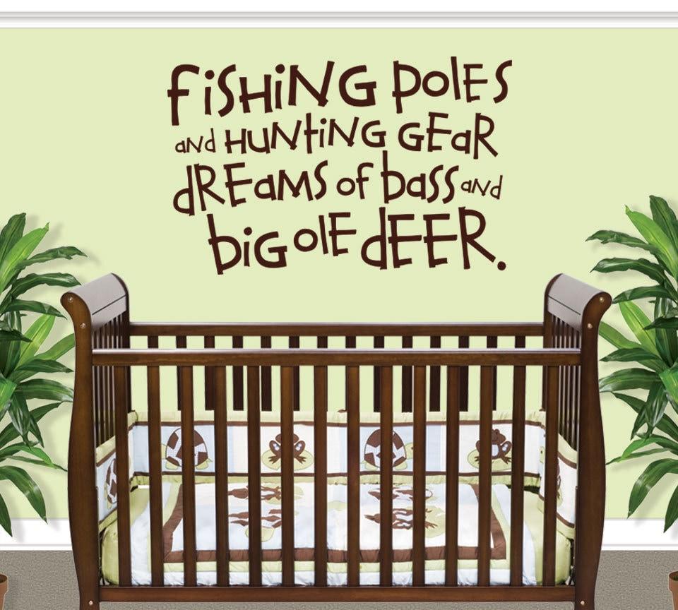 Fishing Wall Decal Boy Nursery Decor Nursery Decal