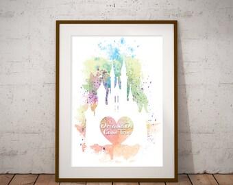 Dreams Do Come True Disney Castle Wall Art Print Printable digital instant download Aurora's Castle Disneyland