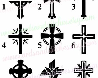 Cross Stencil - Religious Stencil - Art Stencil - Craft Stencil - Reusable Stencil - Stencil - Great for Walls, Clothes, Wood and Fabric