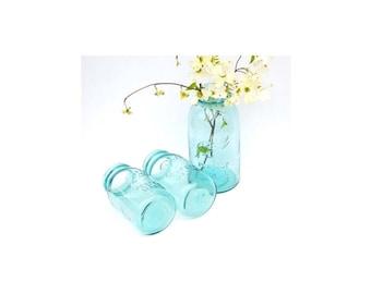 Vintage Blue Mason Jar Large Blue Mason Jar Half Gallon Size Canning Jar Wedding Décor Spring Home Decor