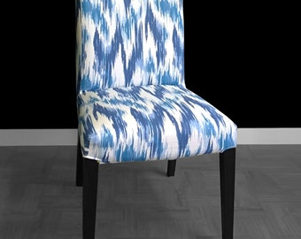 IKEA HENRIKSDAL Dining Chair Cover - Casbah Ikat Blue