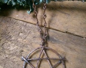 Handcrafted Solid Copper Pentagram Necklace