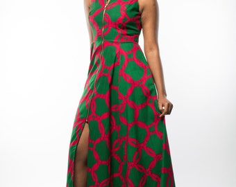 NEW - Maria maxi dress in Green by GITAS Portal