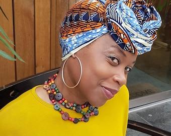 Headscarf / wax print headwrap/ turban/ Print headscarf / ankara headwrap / African print head wrap / ankara headscarf/ headscarf