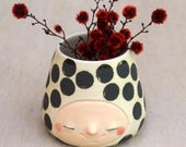 Happy black spotted dalmation cup