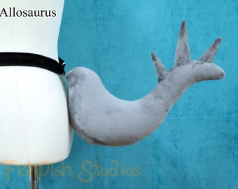 Minky - Allosaurus Inspired Dinosaur Tail - Spiked 'S' Curve Stick out tail ~ Dragon cosplay costume gijinka LARP festivals