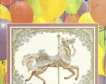 Spring Carousel Horse by Teresa WentzlerJust Cross Stitch Pattern 99 Leaflet 2