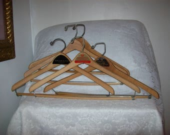 Vintage Wood Suit Hangers Grodin's, Boyd's & Turner Brothers Advertising All 5 for 12 USD
