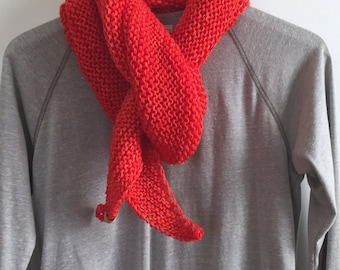 "Hand Knit Wrap, ""Be Bold"""