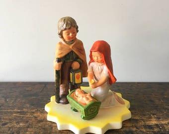 "Vintage Goebel Depicting "" Mary, Joseph, And Baby Jesus "" Model #44700-14, W. Germany  Designed by Gerhard Skobek"