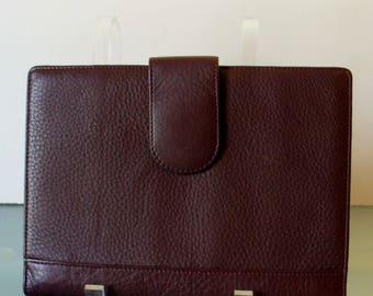 Vintage Levenger Leather Note Portfolio Case