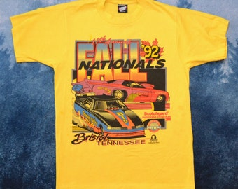 Vintage 1992 90s International Hot Rod Association 11th Annual Fall Nationals T Shirt Size Medium Made in USA