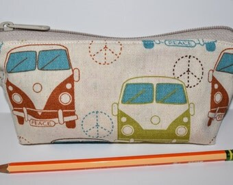 Hippie Bus Zipper Pouch