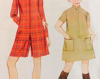 McCalls 9091 Girl's Dress or Pantdress 1967