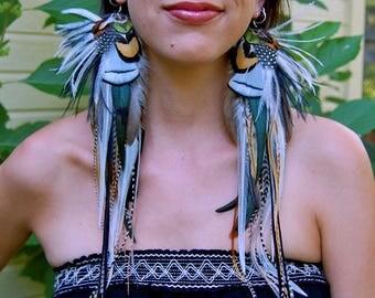 WILD SPIRIT Long Feather Earrings